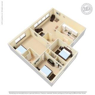 3 Bedrooms 1 Bathroom Apartment for rent at The Manhattan in Oak Ridge, TN