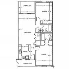 2 Bedrooms 2 Bathrooms Apartment for rent at Bromsgrove Apartments in Athens, GA