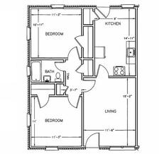 2 Bedrooms 1 Bathroom Apartment for rent at Bromsgrove Apartments in Athens, GA