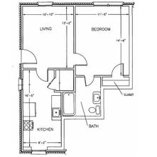 1 Bedroom 1 Bathroom Apartment for rent at Bromsgrove Apartments in Athens, GA