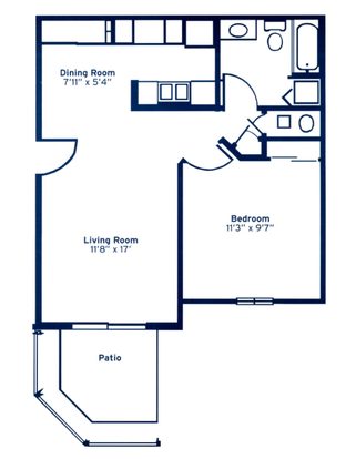 1 Bedroom 1 Bathroom Apartment for rent at Channingway Apartments in Fairborn, OH