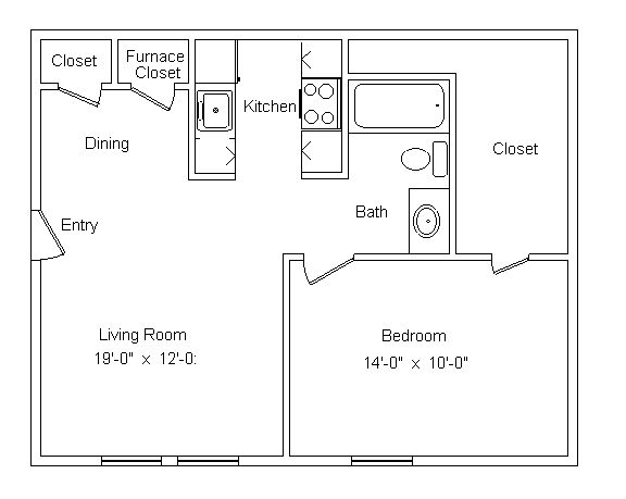 1 Bedroom 1 Bathroom Apartment for rent at Westbrooke Village in Trotwood, OH
