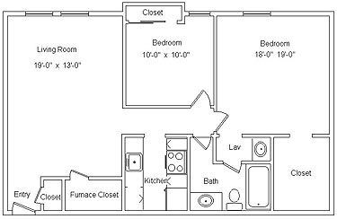 2 Bedrooms 1 Bathroom Apartment for rent at Westbrooke Village in Trotwood, OH