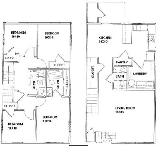 4 Bedrooms 2 Bathrooms Apartment for rent at Bentwood Townhomes in St Louis, MO