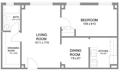 1 Bedroom 1 Bathroom Apartment for rent at Convent Gardens in St Louis, MO