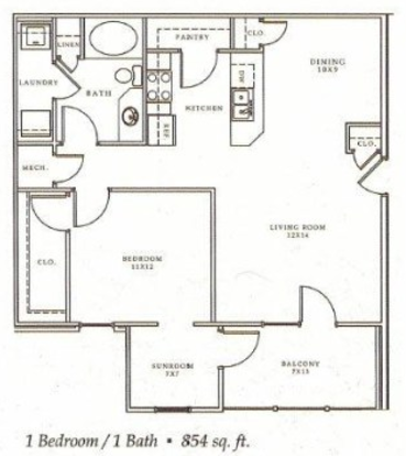 1 Bedroom 1 Bathroom Apartment for rent at The Enclave Of Hardin Valley in Knoxville, TN