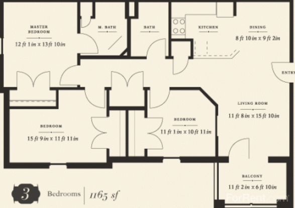 3 Bedrooms 2 Bathrooms Apartment for rent at The Enclave Of Hardin Valley in Knoxville, TN