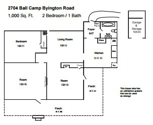 2 Bedrooms 1 Bathroom House for rent at 2704 Ball Camp Byington Rd in Knoxville, TN