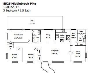 3 Bedrooms 2 Bathrooms Apartment for rent at 8525 Middlebrook Pike in Knoxville, TN