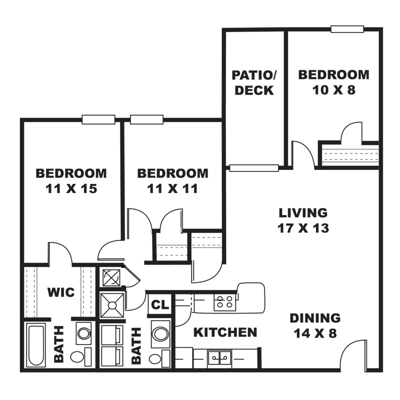 3 Bedrooms 2 Bathrooms Apartment for rent at Austin Park Apartments in Louisville, KY