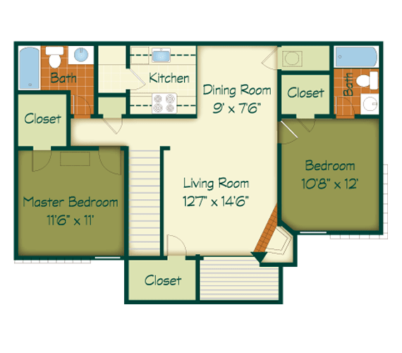2 Bedrooms 2 Bathrooms Apartment for rent at Raintree in Lexington, KY