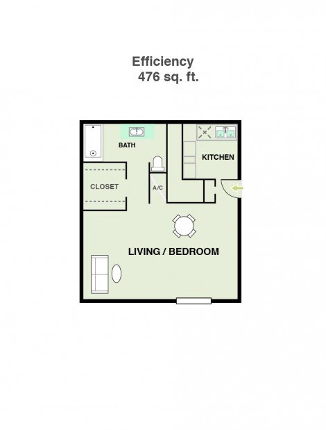 Studio 1 Bathroom Apartment for rent at Ridge At Southcross in San Antonio, TX