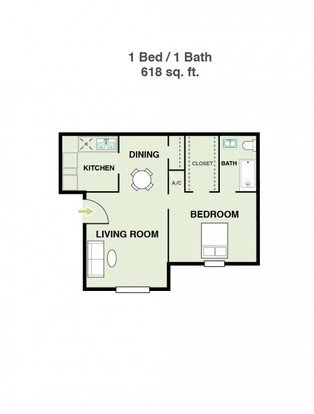 1 Bedroom 1 Bathroom Apartment for rent at Ridge At Southcross in San Antonio, TX