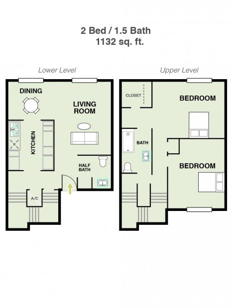 2 Bedrooms 1 Bathroom Apartment for rent at Ridge At Southcross in San Antonio, TX