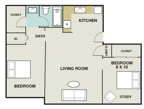 1 Bedroom 1 Bathroom Apartment for rent at The Pointe At Ramsgate in San Antonio, TX