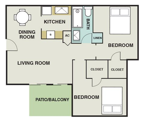 2 Bedrooms 1 Bathroom Apartment for rent at The Pointe At Ramsgate in San Antonio, TX
