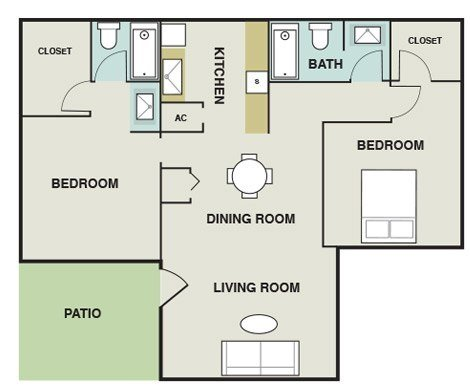 2 Bedrooms 2 Bathrooms Apartment for rent at The Pointe At Ramsgate in San Antonio, TX