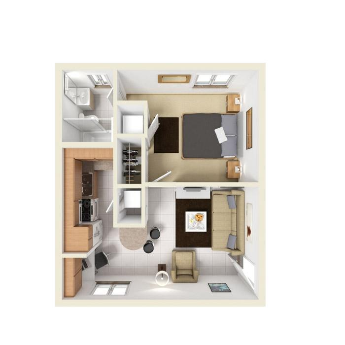 1 Bedroom 1 Bathroom Apartment For Rent At The Villages Of San Carlo In  Tallahassee,