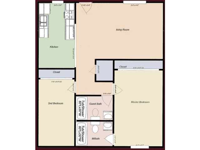 2 Bedrooms 2 Bathrooms Apartment for rent at College Town Tempe in Tempe, AZ