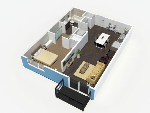 1 Bedroom 1 Bathroom Apartment for rent at Denizen in Denver, CO