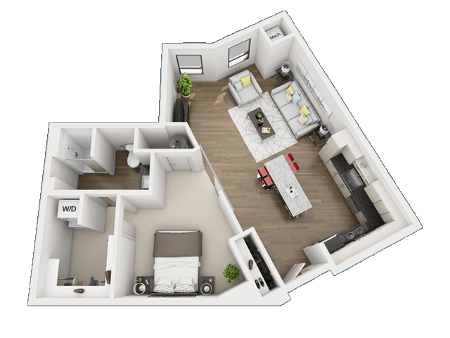 1 Bedroom 1 Bathroom Apartment for rent at Skyvue Apartments in Pittsburgh, PA