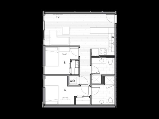 2 Bedrooms 2 Bathrooms Apartment for rent at Luna in Tucson, AZ