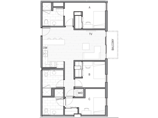 3 Bedrooms 3 Bathrooms Apartment for rent at Luna in Tucson, AZ
