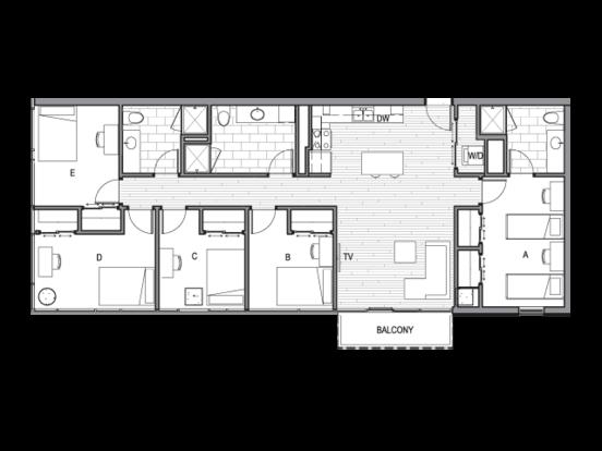 5 Bedrooms 3 Bathrooms Apartment for rent at Luna in Tucson, AZ