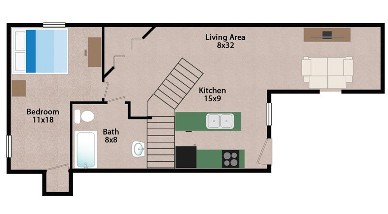 2 Bedrooms 1 Bathroom Apartment for rent at Wiedenbeck Warehouse Apartments in Madison, WI