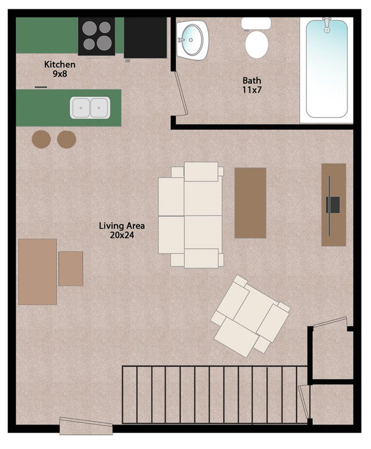 1 Bedroom 1 Bathroom Apartment for rent at Wiedenbeck Warehouse Apartments in Madison, WI