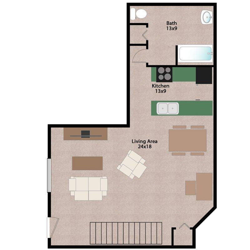2 Bedrooms 2 Bathrooms Apartment for rent at Wiedenbeck Warehouse Apartments in Madison, WI