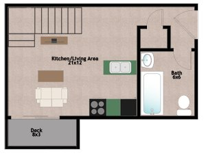 1 Bedroom 1 Bathroom Apartment for rent at 538 W Main St in Madison, WI