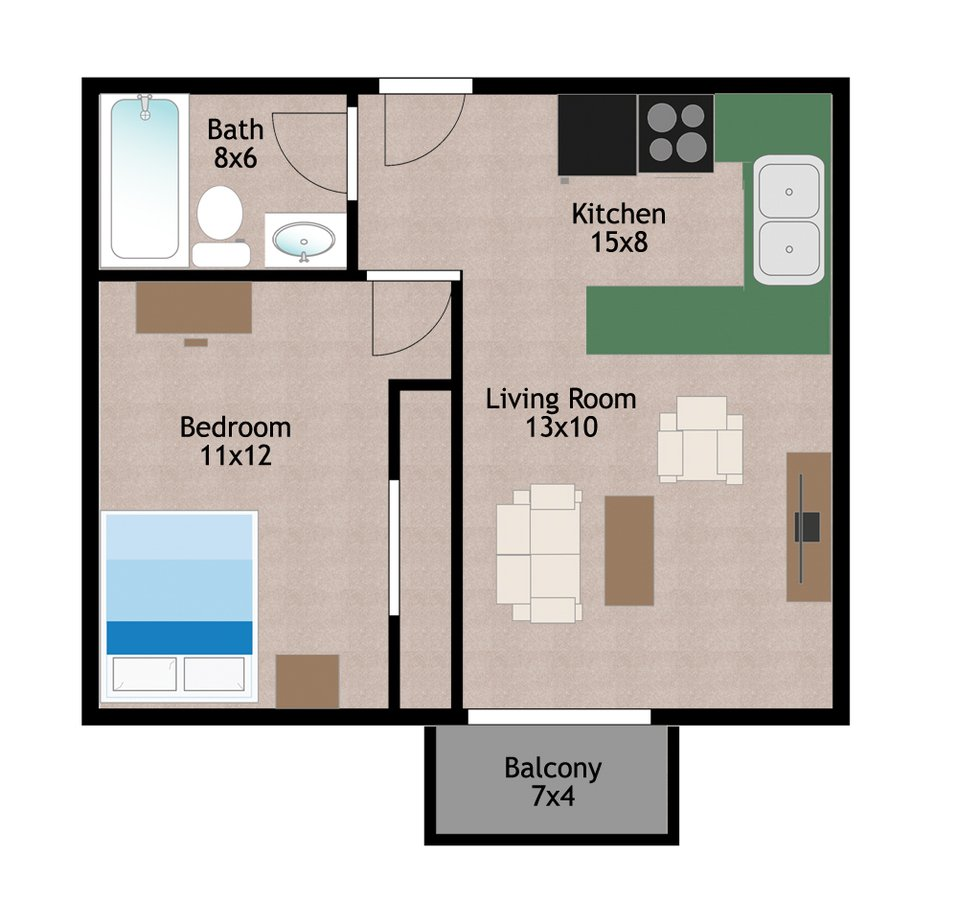 1 Bedroom 1 Bathroom Apartment for rent at 518 W Main St in Madison, WI