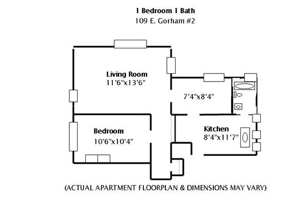 1 Bedroom 1 Bathroom Apartment for rent at 109 E Gorham in Madison, WI