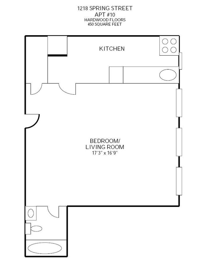 Studio 1 Bathroom Apartment for rent at 1218 Spring St in Madison, WI