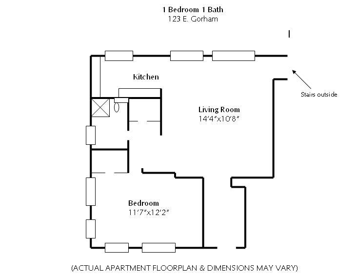 1 Bedroom 1 Bathroom Apartment for rent at 123 E Gorham in Madison, WI