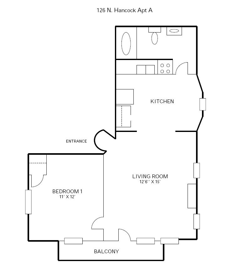 1 Bedroom 1 Bathroom Apartment for rent at 126 N Hancock in Madison, WI