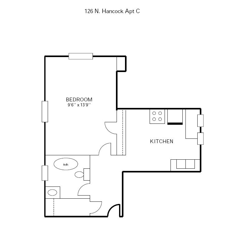 Studio 1 Bathroom Apartment for rent at 126 N Hancock in Madison, WI