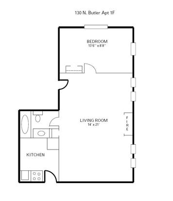 1 Bedroom 1 Bathroom Apartment for rent at 130 N Butler in Madison, WI