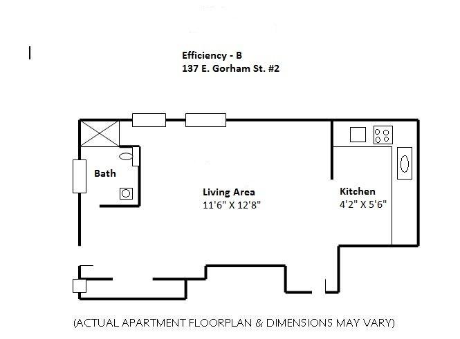Studio 1 Bathroom Apartment for rent at 137 E Gorham in Madison, WI