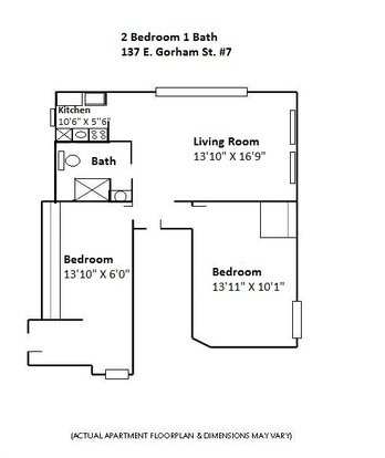 2 Bedrooms 1 Bathroom Apartment for rent at 137 E Gorham in Madison, WI