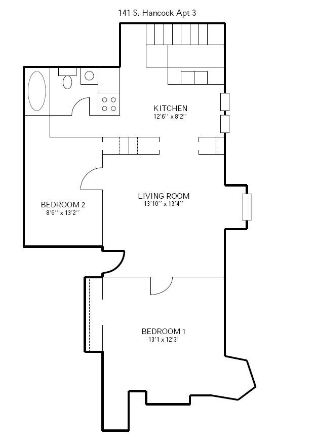 2 Bedrooms 1 Bathroom Apartment for rent at 141 S Hancock St in Madison, WI