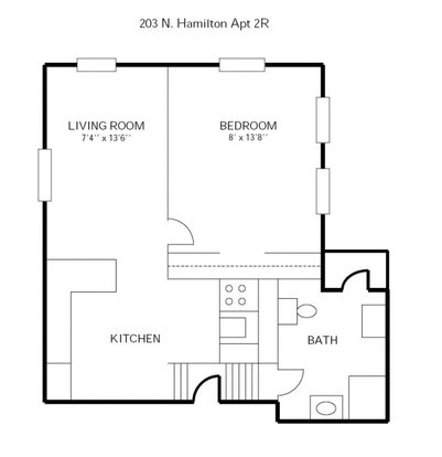 1 Bedroom 1 Bathroom Apartment for rent at 203 N Hamilton in Madison, WI