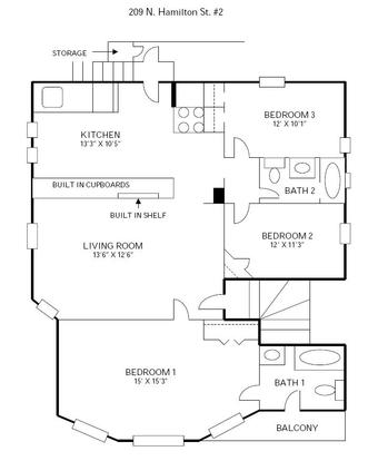 3 Bedrooms 1 Bathroom Apartment for rent at 209 N Hamilton in Madison, WI