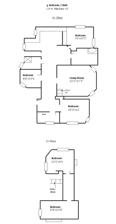 5 Bedrooms 2 Bathrooms Apartment for rent at 319 N Pinckney in Madison, WI