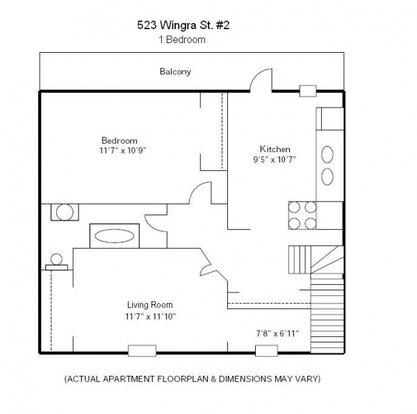 1 Bedroom 1 Bathroom Apartment for rent at 523 Wingra St in Madison, WI