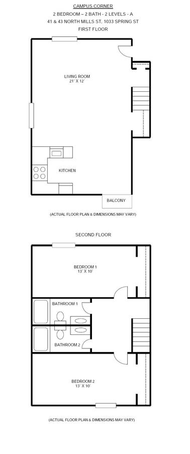 2 Bedrooms 2 Bathrooms Apartment for rent at Campus Corner in Madison, WI