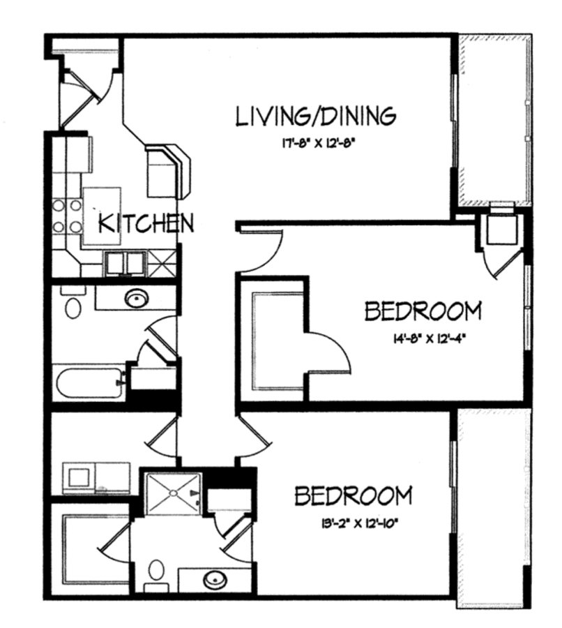 2 Bedrooms 2 Bathrooms Apartment for rent at Mirabel Apartments in Madison, WI
