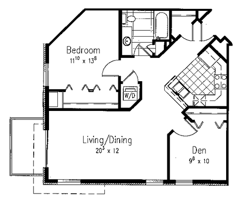 1 Bedroom 1 Bathroom Apartment for rent at Midtown Terrace in Madison, WI