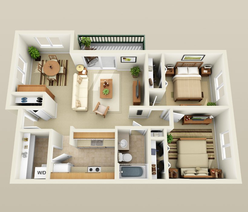 2 Bedrooms 1 Bathroom Apartment for rent at Pondfield Apartments in Madison, WI